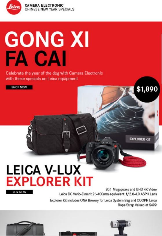 Camera Electric Chinese New Year 2018