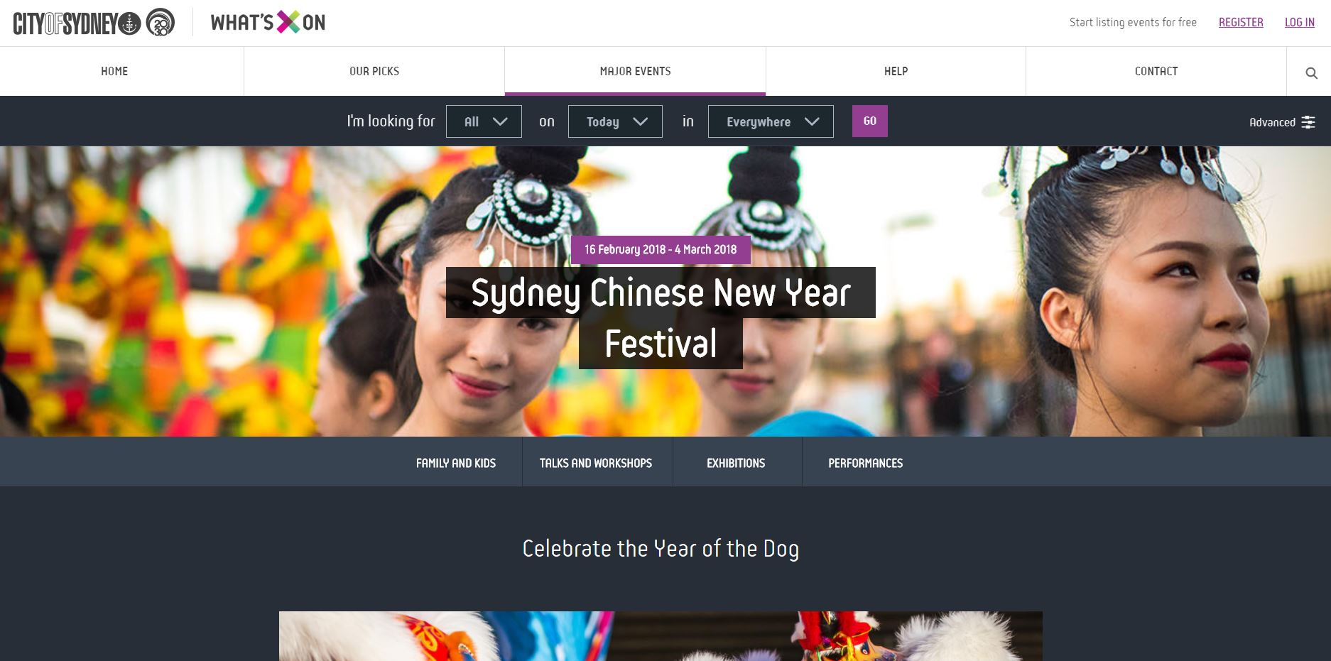 city of sydney Chinese New Year festival