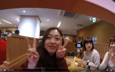 A Slice of life in Tokyo, a view from the sushi train…